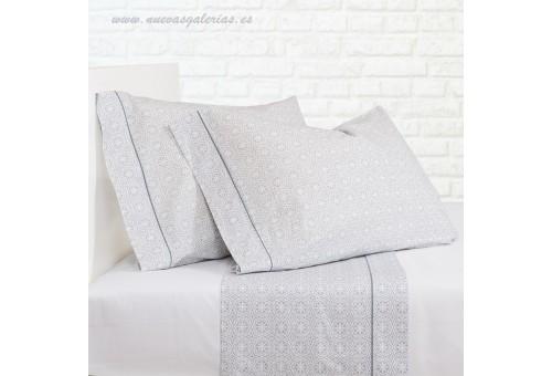 Bassols Completo Lenzuola Siwa Gris | Bassols - 1 Set di lenzuola Siwa Grey di Bassols 100% cotone egiziano filo di lana merceri