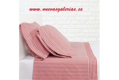 Bassols Completo Lenzuola Sailor Rojo | Bassols - 1 Set di lenzuola Sailor Red di Bassols 100% cotone egiziano Capelli mercerizz