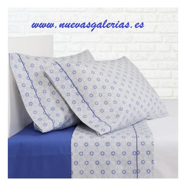 Bassols Sommerbettwäsche Bassetti Ica Azul | Bassols - 1 Sommerbettwäsche Ica Bassols Blue Mercerized Fäden 200 aus ägyptischer