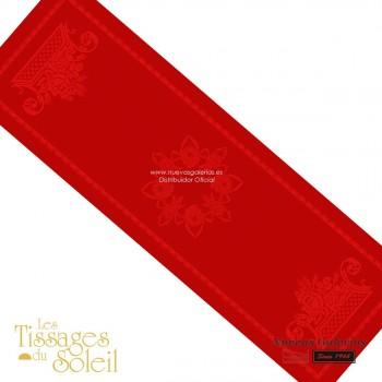 Table Runner Les Tissages du Soleil   Royal Red