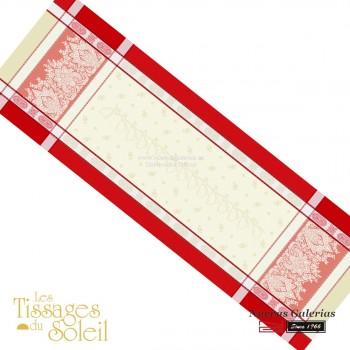 Camino de Mesa Les Tissages du Soleil | Arlesienne Rojo