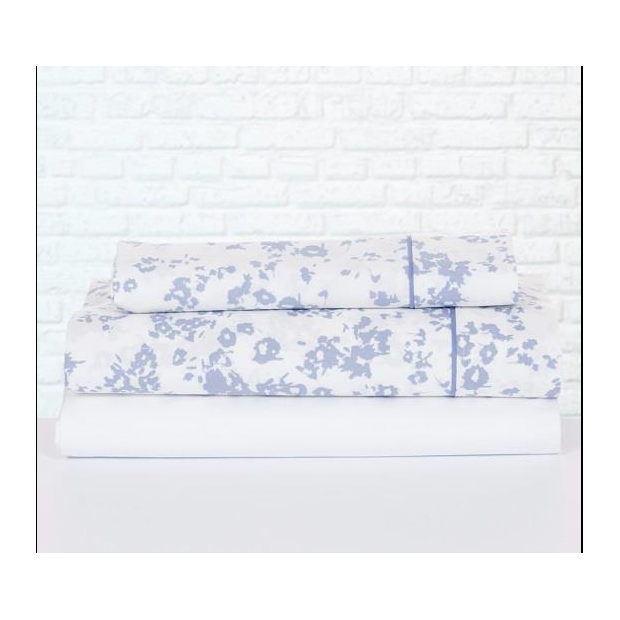 Bassols Completo Lenzuola Hana Azul | Bassols - 1 Set di lenzuola Hana Blue di Bassols 100% cotone egiziano, filo di lana mercer