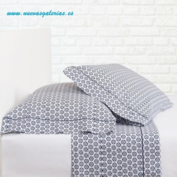 Bassols Completo Lenzuola Nager Azul | Bassols - 1 Set di lenzuola Nager Bassols Blu 100% cotone egiziano a mercerizzato per cap