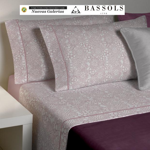 Bassols Sheet Set Clover Rosa | Bassols - 1 Sheet Set Clover Rosa de Bassols 100% Egyptian Cotton Mercerized Hair 200 thread. 3