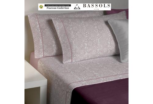 Bassols Completo Lenzuola Clover Rosa | Bassols - 1 Set di lenzuola Clover Rosa de Bassols 100% cotone egiziano filo di lana mer
