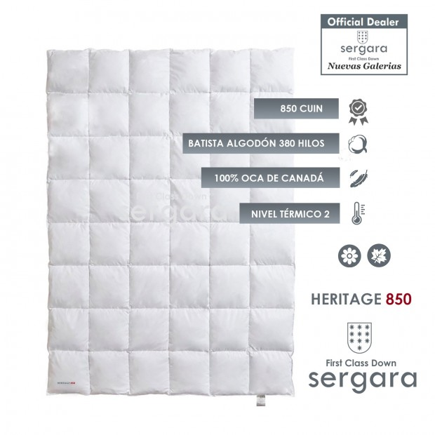Sergara Heritage 850 Fill Power Spring Down Comforter