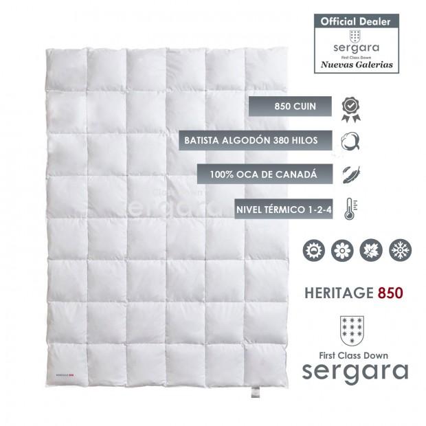Couette 4 Saisons Heritage 850 100% Duvet D'oie | Sergara