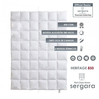 Sergara Heritage 850 Fill Power Made to Measure Down Comforter