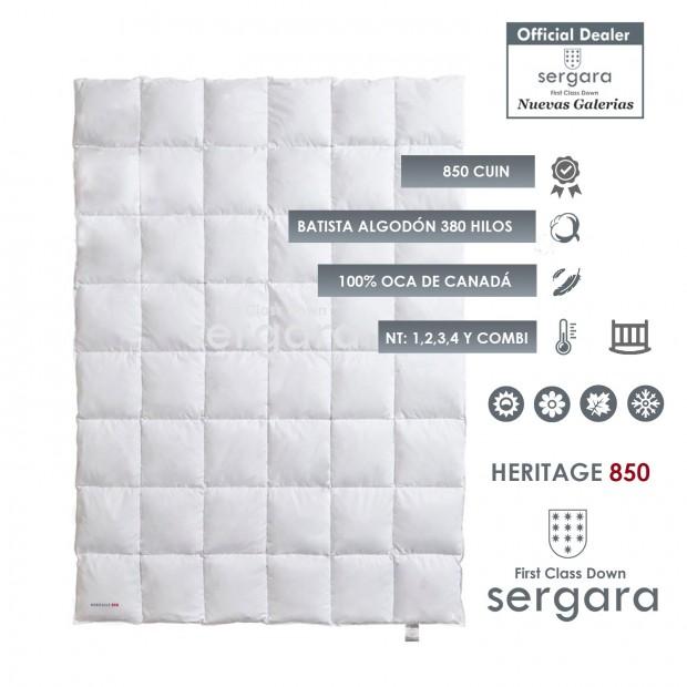 Relleno Nordico Sergara Heritage 850 | Bebé