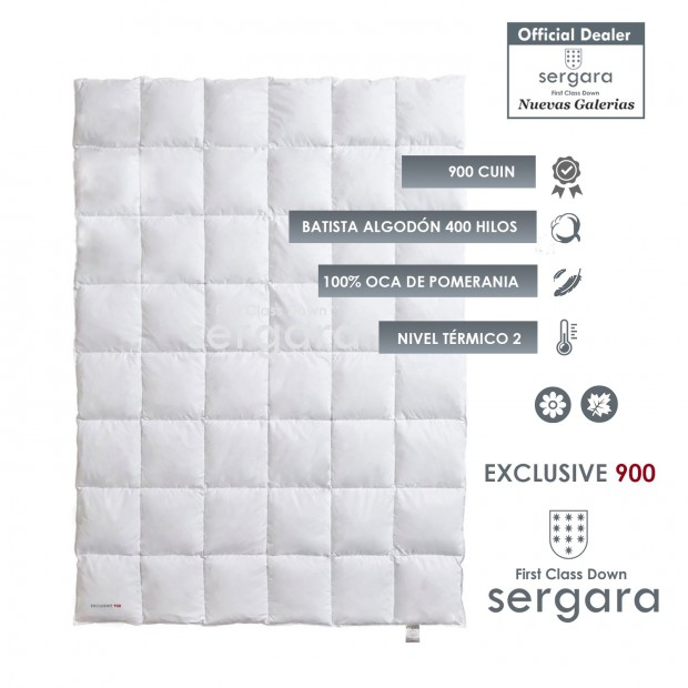 Sergara Exclusive 900 Sommerhalbjahr | Daunendecke
