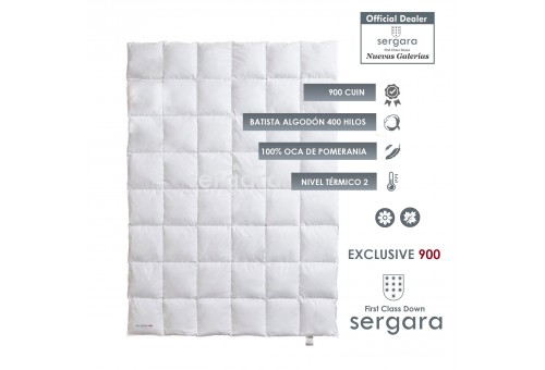 Sergara Exclusive 900 Fill Power Spring Down Comforter