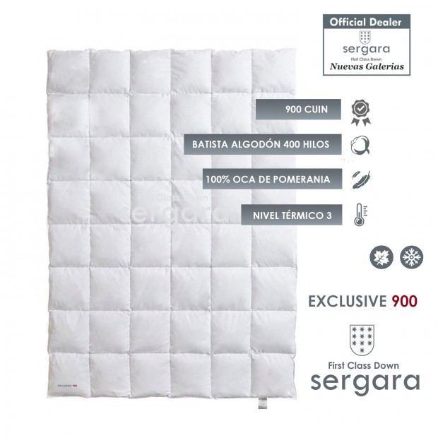 Sergara Exclusive 900 Winterhalbjahr | Daunendecke