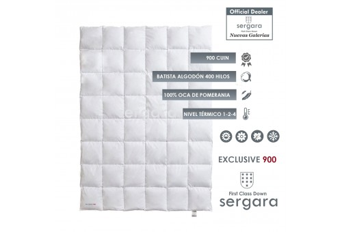 Sergara Exclusive 900 Fill Power All Seasons Down Comforter