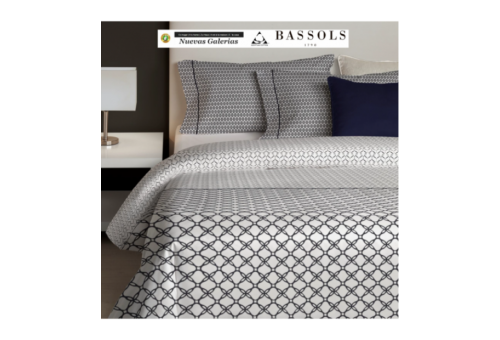 Bassols Duvet Cover Pool Azul | Bassols - 1 Duvet cover Pool by Bassols 100% Egyptian Cotton Mercerized Hair 200 thread. 3 piece