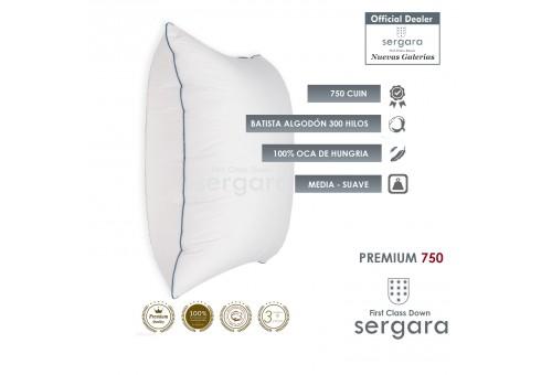Sergara Premium 750 Quadratisches Daunenkissen   Weich