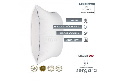Sergara Atelier 800 Fill Power Square Goose Down Pillow | Soft