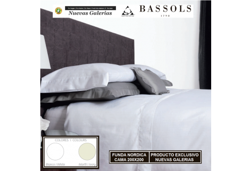 Bassols Duvet Cover Cama 200x200 Luxor | Bassols - 1 Duvet cover Luxor by Bassols 100% Egyptian Cotton Mercerized Satin 300 thre