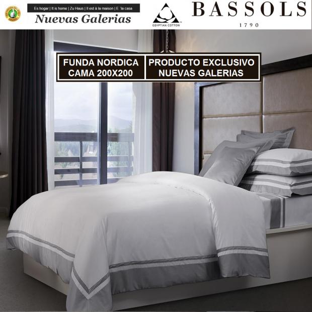 Bassols Funda Nórdica Cama 200x200 Bassols | Lugano - 1 Funda Nordica Lugano de Bassols 100% Algodón Egipcio Satén Mercerizado