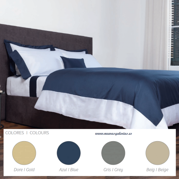 Bassols Duvet Cover Bassols | Sidney - 1 Duvet cover Sidney de Bassols 100% Egyptian Cotton Mercerized Satin 300 threads. 3 piec