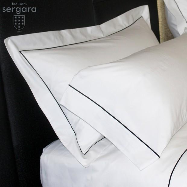 Sergara Sheet Set 600 Thread Egyptian Cotton Sateen | Black Bourdon