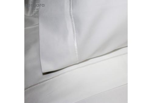 Sergara Sommerbettwäsche Ägyptische Baumwolle 600 Fäden | Weißer Bourdon