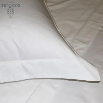 Sergara Bettwäsche Ägyptische Baumwolle 600 Fäden | Weißer Bourdon