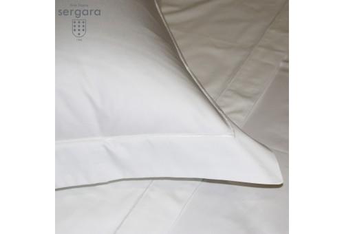 Copripiumino Sergara 600 filo cotone egiziano | Bourdon Bianco