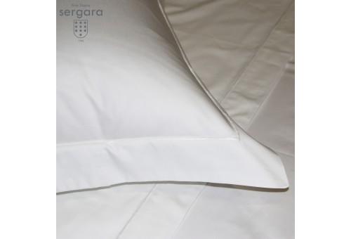 Sergara Duvet Cover 600 Thread Egyptian Cotton Sateen | White Bourdon