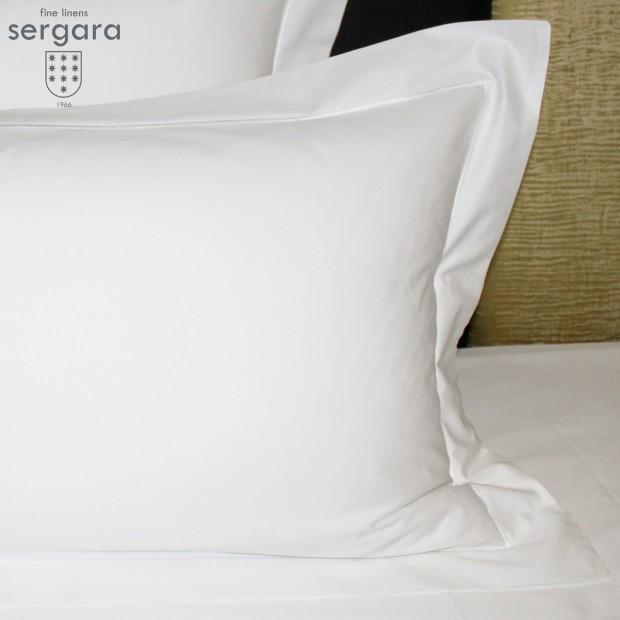 Sergara Kissenbezüge Ägyptische Baumwolle 600 Fäden | Weißer Bourdon