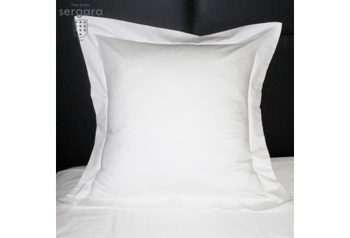 Sergara Sham 600 Thread Egyptian Cotton Sateen | White Bourdon