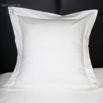 Sergara Quadratische Kissenbezüge 600 Fäden | Weißer Bourdon