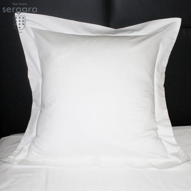 Sergara Euro Sham 600 Thread Egyptian Cotton Sateen | White Bourdon
