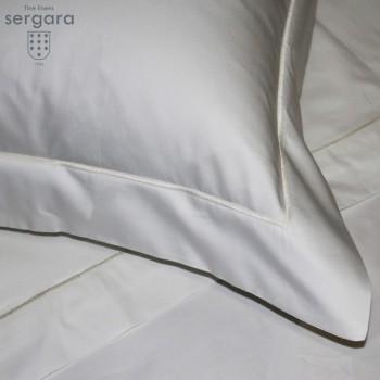 Sergara Bettwäsche Ägyptische Baumwolle 600 Fäden | Beig Bourdon