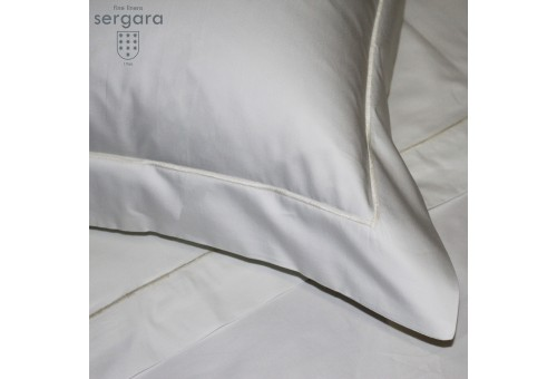 Sergara Duvet Cover 600 Thread Egyptian Cotton Sateen | Beig Bourdon