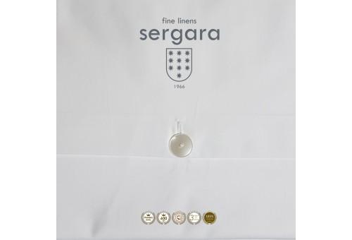 Sergara Bettwäsche Ägyptische Baumwolle 600 Fäden | Schwarzer Bourdon