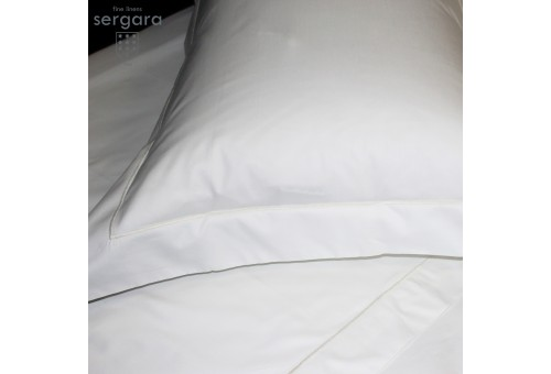 Sergara Sham 600 Thread Egyptian Cotton Sateen | Beig Bourdon