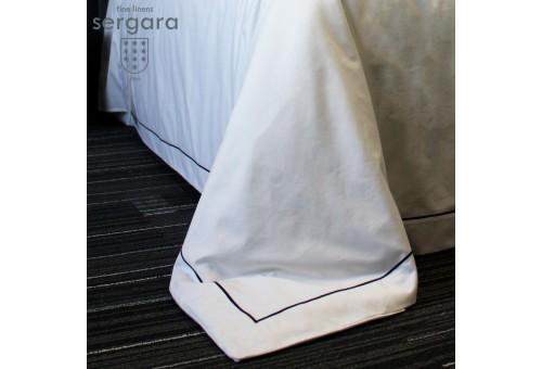 Sergara Bettwäsche Ägyptische Baumwolle 600 Fäden | Grauer Bourdon