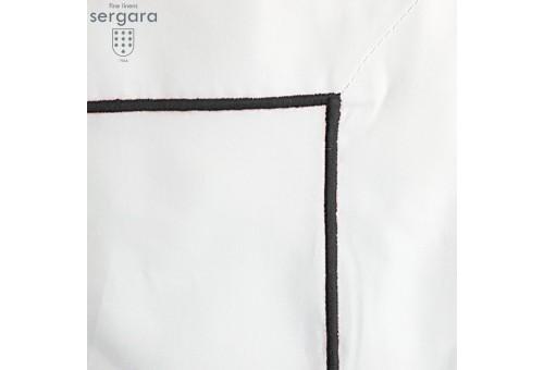 Sergara Quadratische Kissenbezüge 600 Fäden   Grauer Bourdon