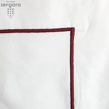 Sergara Bettwäsche Ägyptische Baumwolle 600 Fäden | Granat Bourdon
