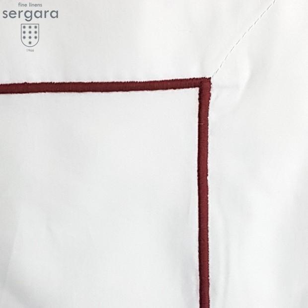 Housse de Couette Sergara de coton Égyptien 600 fils | Bourdon Grenat