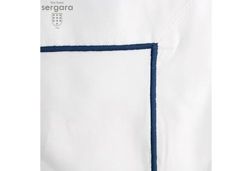 Sergara Duvet Cover 600 Thread Egyptian Cotton Sateen | Blue Bourdon