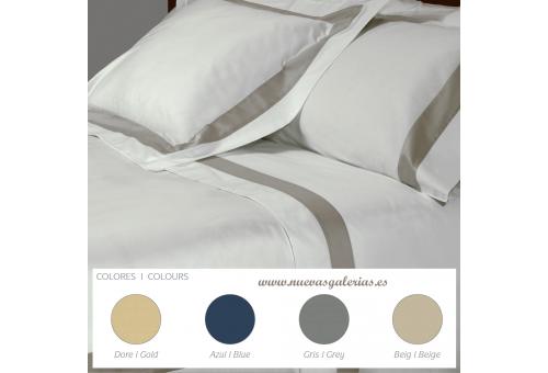 Bassols Sheet Set Berna | Bassols - 1 Sheet Set Berna by Bassols 100% Egyptian Cotton Mercerized Satin 300 thread. 3 pieces, Qua