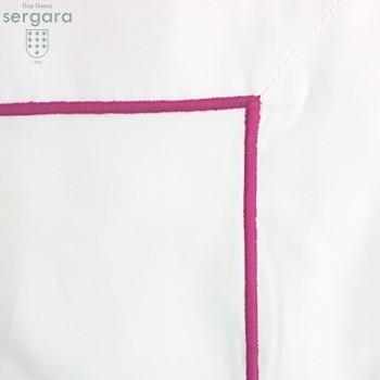 Federe Quadrate Sergara 600 filo cotone egiziano | Bourdon Rosa