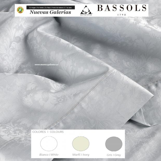 Bassols Sommerbettwäsche Bassetti Jade | Bassols - 1 Sommerbettwäsche Jade de Bassols 100% ägyptischer Jacquard Mercerisierter
