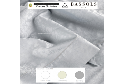 Bassols Sheet Set Jade | Bassols - 1 Sheet Set Jade de Bassols 100% Egyptian Jacquard Mercerized 250 thread cotton. 3 pieces, Qu