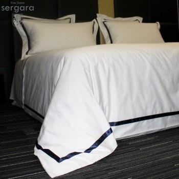 Sergara Duvet Cover 600 Thread Egyptian Cotton Sateen | Blue Illusion