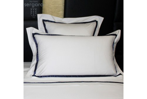 Sergara Sham 600 Thread Egyptian Cotton Sateen | Blue Illusion
