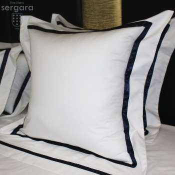 Sergara Euro Sham 600 Thread Egyptian Cotton Sateen | Blue Illusion
