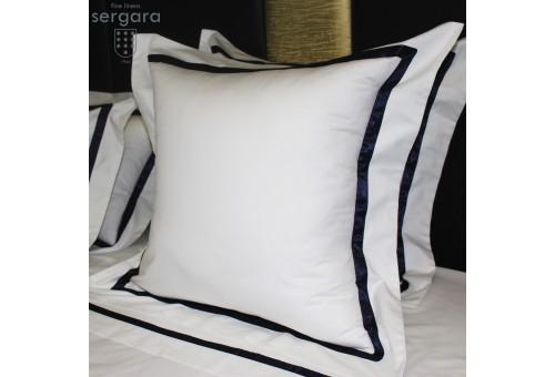 Sergara Euro Sham 600 Thread Egyptian Cotton Sateen | Blue Illusion