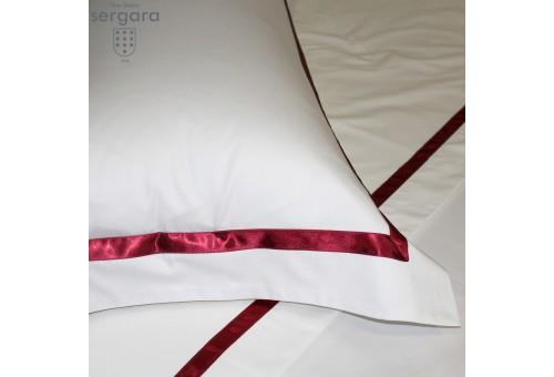 Ensemble de draps Sergara de coton Égyptien 600 fils | Illusion Rouge